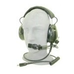Headset, Military, F/A-18 Black Noise, Noise Cancelling Microphone, TP-102 Plug