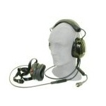 Headset, Military, F-111, Black Noise, Field Replaceable Noise Cancelling Microphone Right Hand Side Mount, TP-102 Plug
