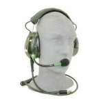 Headset, Military, Black Noise, Field Replaceable Noise Cancelling Microphone Right Side Mounted, TP-102 Plug