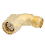 Adapter SMA M-SMA F Right Angle Gold Plated