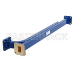 WR-75 Waveguide 30 dB Broadwall Coupler, Square Cover Flange, E-Plane Coupled Port, 10 GHz to 15 GHz, Copper Alloy