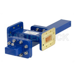 WR-112 Waveguide 20 dB Crossguide Coupler, CPR-112G Flange, SMA Female Coupled Port, 7.05 GHz to 10 GHz, Bronze
