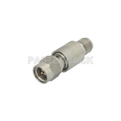 High Voltage DC Block on Inner Conductor 50 Ohm SMA Male to 50 Ohm SMA Female Operating From 10 MHz to 18 GHz